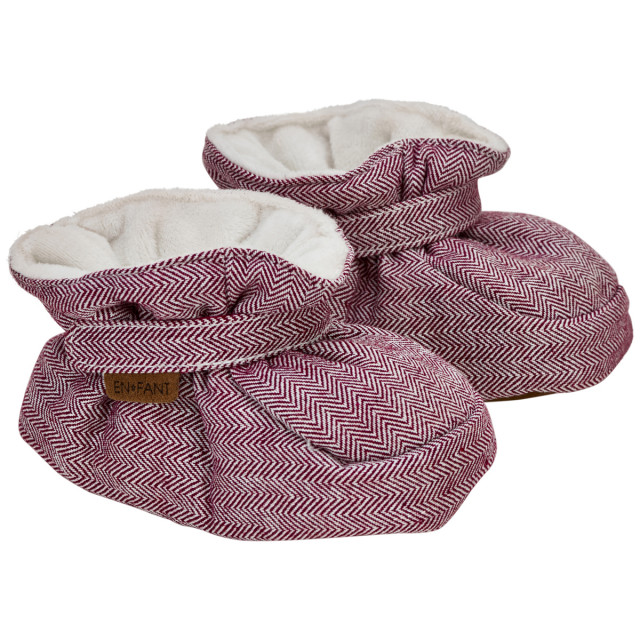 En fant baby slippers ruby wine