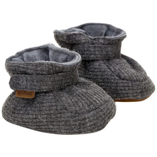 En fant baby slippers dark grey melange