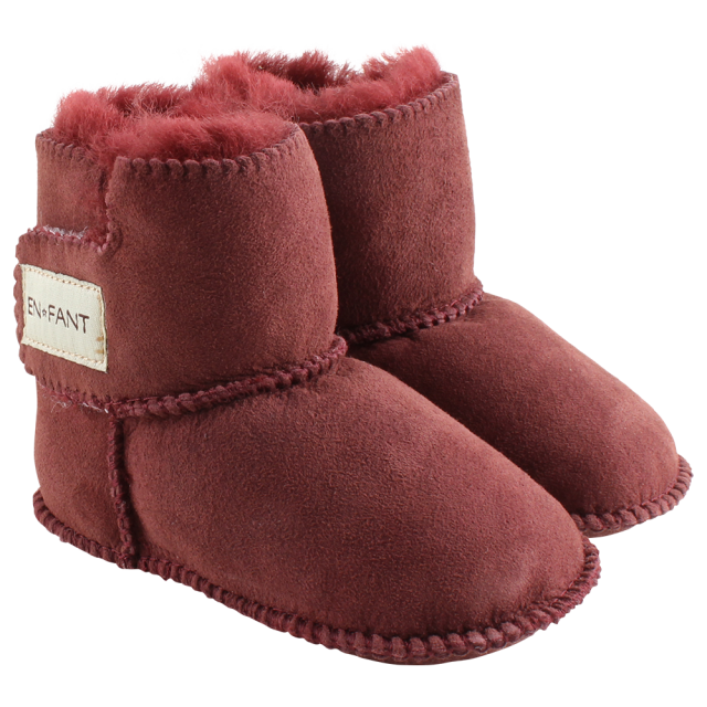 Fixoni sheepskin bootee bordeaux