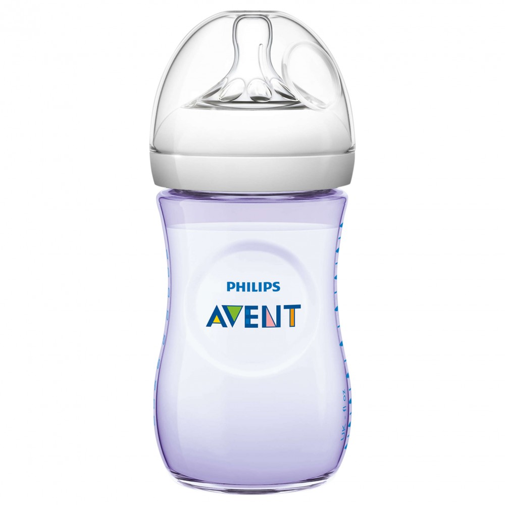 Avent nappflaska natural 260ml lila  8cb2285490553